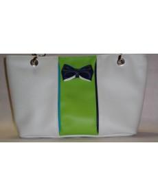 Pacôme blanc et vert anis